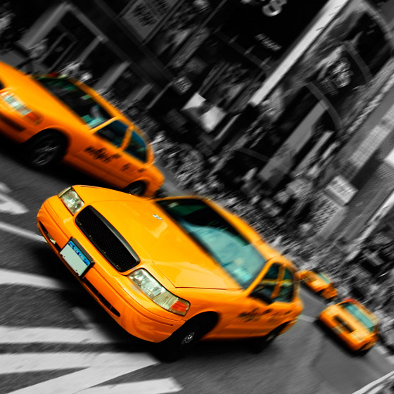 Time Square, mustavalkoinen